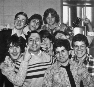 Br. Ron Marcellin with Molloy Students in 1981