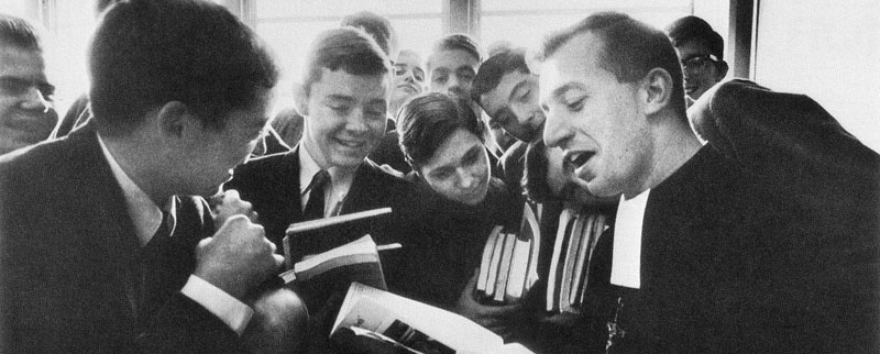 Brother Ron Marcellin with Students in 1967