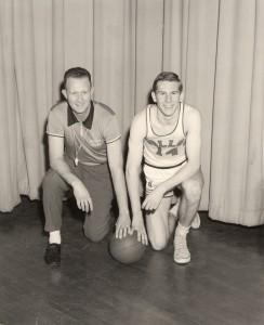 Coach Jack Curran and Jim Larranaga
