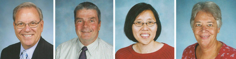 Br. Thomas Schady, Br. Bob Andrews, Mrs. Christine Loo, and Sr. Susan Dean