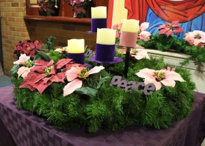 Advent Display at Molloy