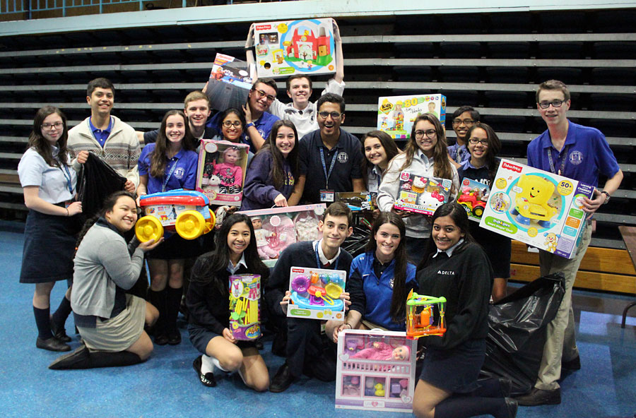 Students collected new toys for Molloy's annual Toy Drive