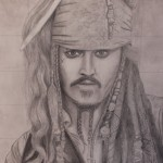 Captain Jack Sparrow, by Anna Mienko '18