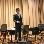 David Kemp '17 performs a solo.