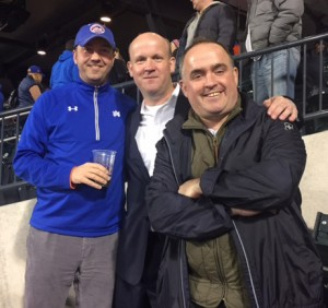 L-R: Joe Grimpel '90, Mike Gillespie '90, and Don Erickson '90.