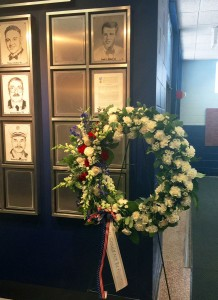 Wreath for PFC Louis Willett '63 in observance of Memorial Day.