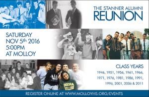 Stanner Alumni Reunion on November 5th, 2016