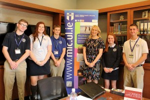 Students meet with Ms. Holly Cowman of Mary Immaculate College, Limerick, Ireland.